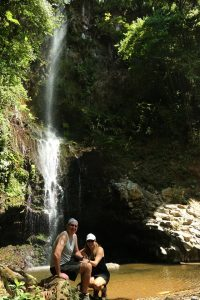 Waterfall near our home in Costa Rica