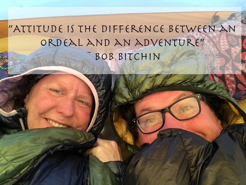 "Quote: ""Attitude is the difference between an ordeal and an adventure"" – Bob Bitchin"