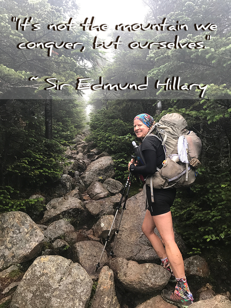 "Quote: ""It's not the mountain we conquer, but ourselves."" - Sir Edmund Hillary"